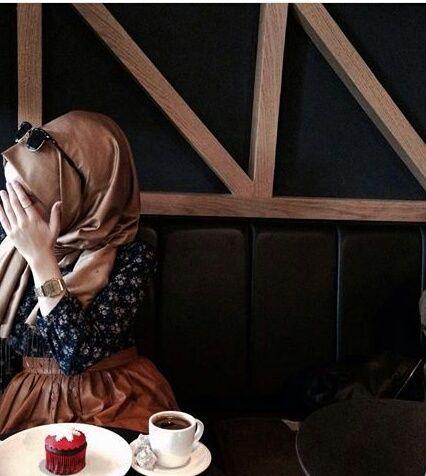 รูปภาพ coffee, girl, and hijab
