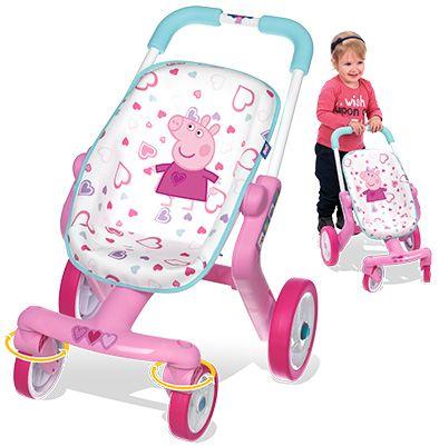SMOBY 511213 kočík pre bábiky Baby Nurse Peppa Pig