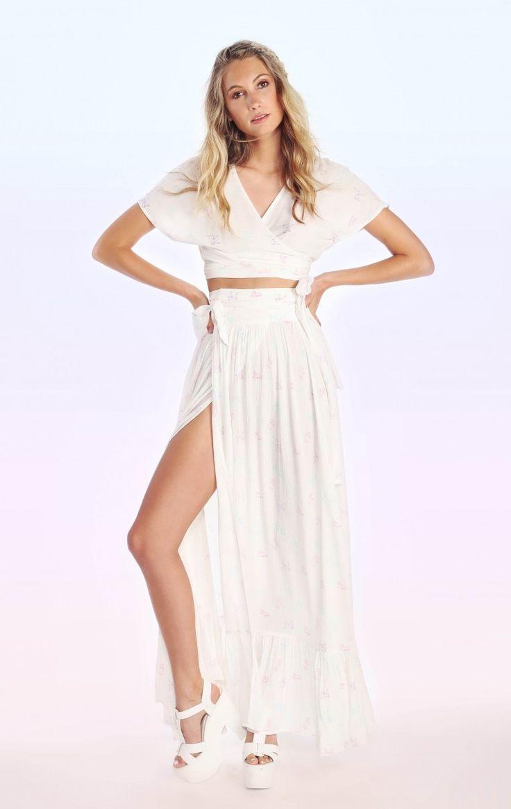 Wildfox Couture Multi Unicorn Wrap Top