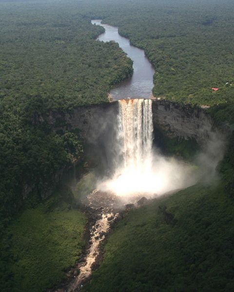 Kaieteur Falls - Potaro River in Kaieteur National Park, central Essequibo Territory, Guyana.