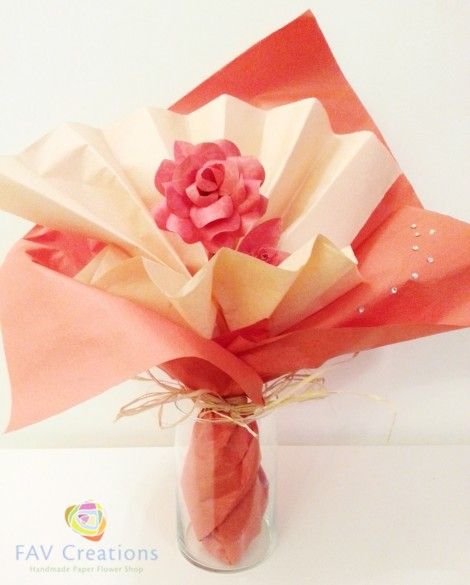 17 best images about funeral flowers on pinterest red for Handmade paper creations