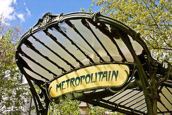 Metro Station Sign Paris