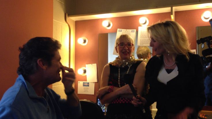 Interviewing The Hoff - David Hasselhoff and Su Pollard. At the Theatre Royal, Nottingham whilst performing the pantomine Peter Pan