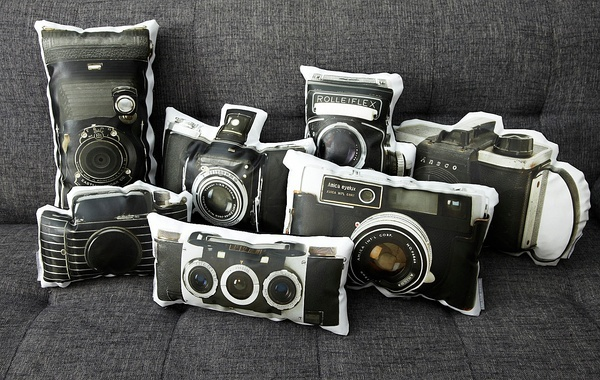 Vintage Amica Eyelux Camera Canvas Printed Pillow (http://www.etsy.com/shop/intheseam?section_id=10556036)