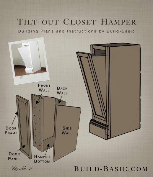 Tilt Out Closet Hamper Part Of The Build Basic Closet