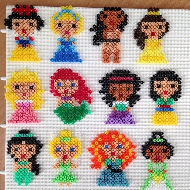 Disney Princess Hama mini beads by bittermus