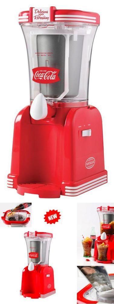 COKE Frozen Drink Maker Beverage Mixer Slush Slushie Machine Ice Slurpee Shaver #Nostalgia