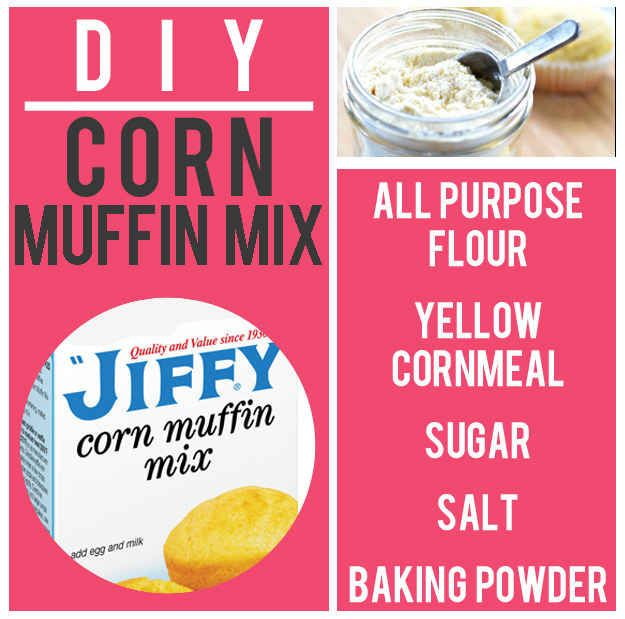 Jiffy Muffin Mix! • recipes • DIY •  15 Boxed Food Mixes You'll Never Have To Buy Again