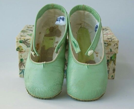 Green little shoes for toddler