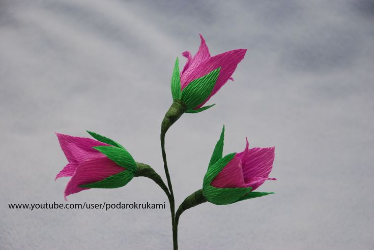 "Цветы ""Колокольчики"" из конфет и бумаги. Flowers from sweets and paper"