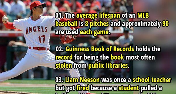50 Random Facts List 140 Fact Republic Fun Facts Wtf Fun Facts Mlb Baseball