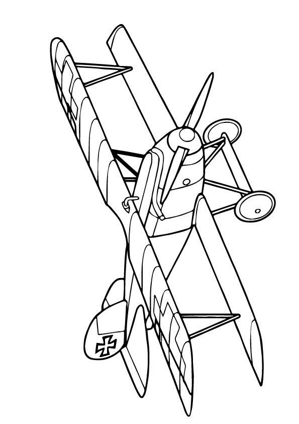 Biplane Coloring Page Printable Sketch Coloring Page