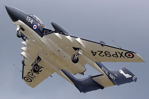 Starting its display at the Kemble Air Day 2009. this Sea Vixen is wearing authentic 899 NAS RN markings.