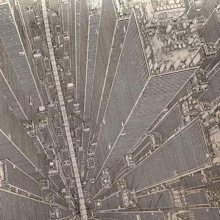 Birds-eye View Cityscape Painting by Daisuke Tajima | JOQUZ