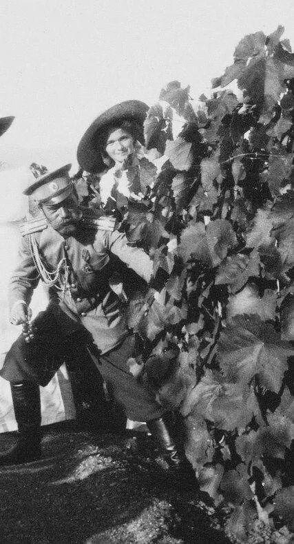 Tsar Nicholas ll of Russia with his eldest daughter, Grand Duchess Olga Nikolaevna Romanova of Russia.