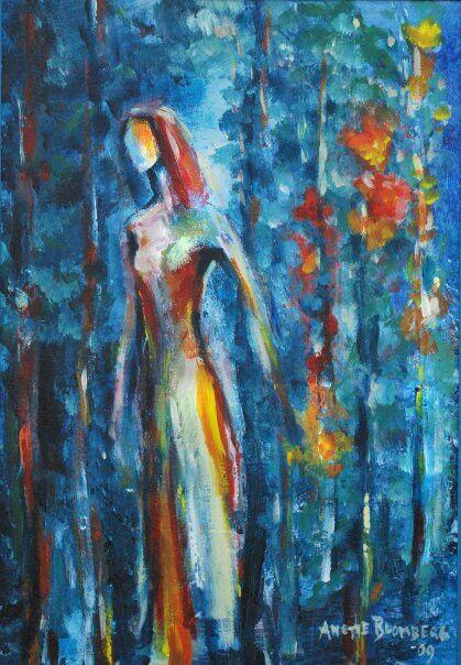 Bland träden måleri Anette Blomberg