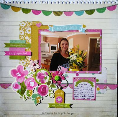 My Guest Design layout for my January 2014 challenge at SCRAPBOOKIT using Kaisercraft Confetti see http://scrapbookitblog.blogspot.com.au/2014/01/happy-new-year.html