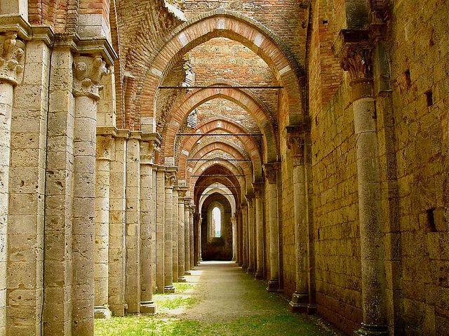 San Galgano Abbey - near Siena, Tuscany by © Arnaud Bachelard