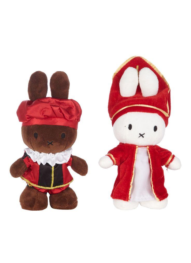 Nijntje (Miffy) and Nina, her friend, dressed up as Sinterklaas and Zwarte Piet. Love 'em.