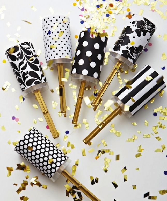 DIY Confetti Poppers: Budget friendly and easy to make, you can pack these full of confetti and have your guests pop them during your walk down the aisle or while dancing during the reception. #Wedding-Ideas