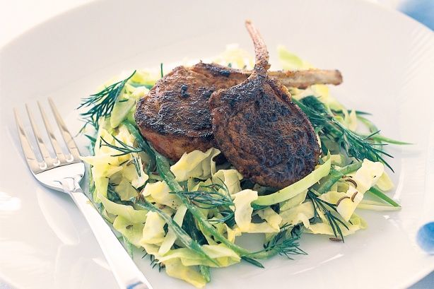 This succulent Cajun lamb with tasty cabbage salad proves that low-fat doesn't mean less flavour.