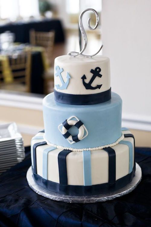 Gâteau baby shower thème marin / bateau