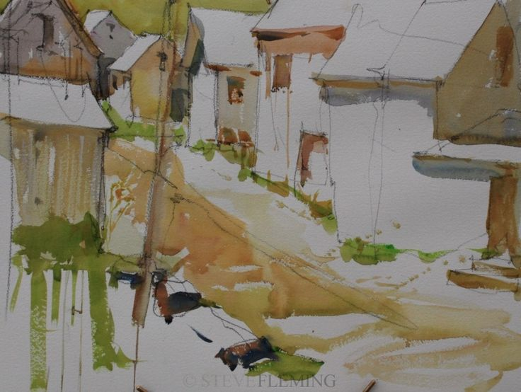 12 best images about steve fleming on pinterest for Creative watercolor painting techniques