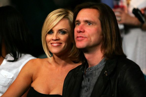 Jenny McCarthy & Jim Carrey  Yes... she's one of the charlie's girlfriends in two and a half men :)