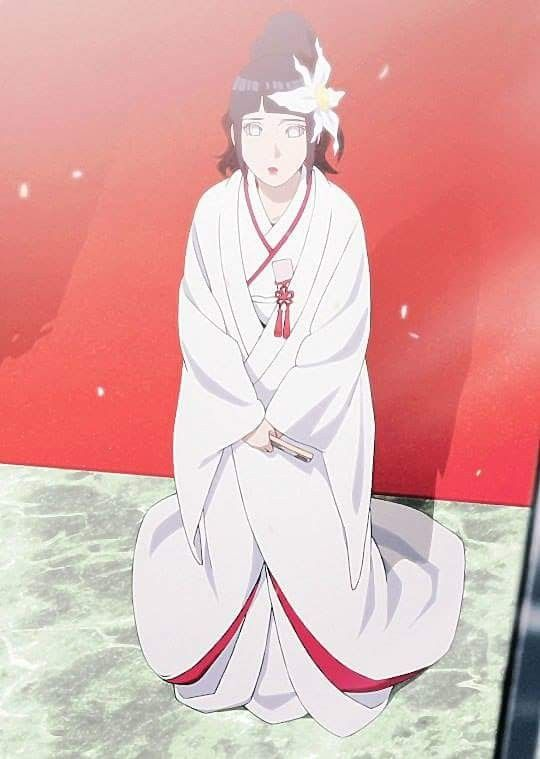 Hinata at her wedding with Naruto ♡ she is such a beautiful bride ♡