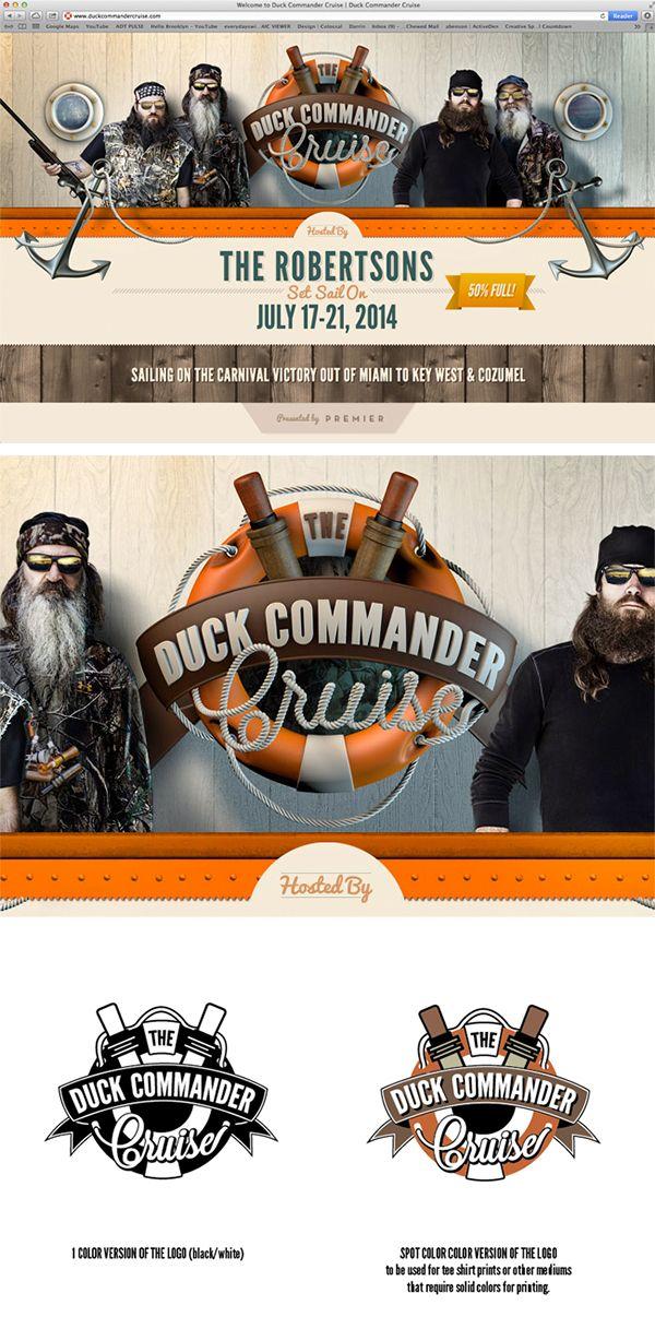 Duck Commander Cruise Branding by Barton Damer, via Behance