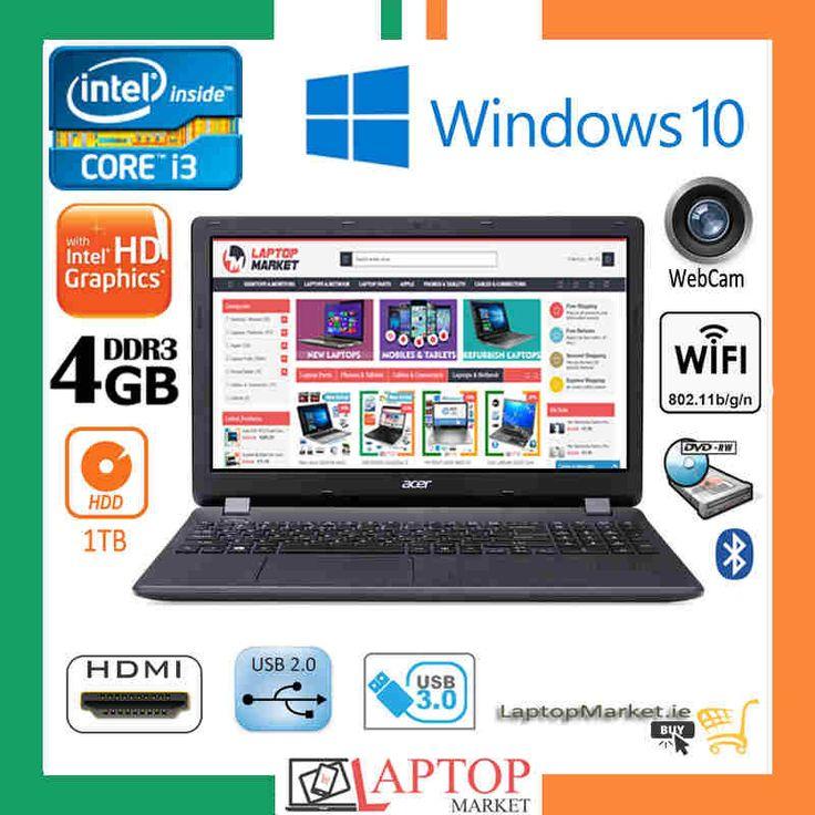 "Acer Aspire ES1-571 i3 2GHz 4GB 1TB DVDRW HDMI USB3.0 15.6"" Win10 Laptop"