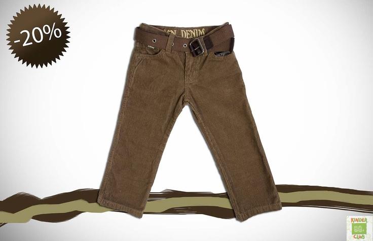 Σετ αγόρι 1 - 5 ετών:   Παντελόνι με ζώνη τύπου κοτλέ βαμβακερό