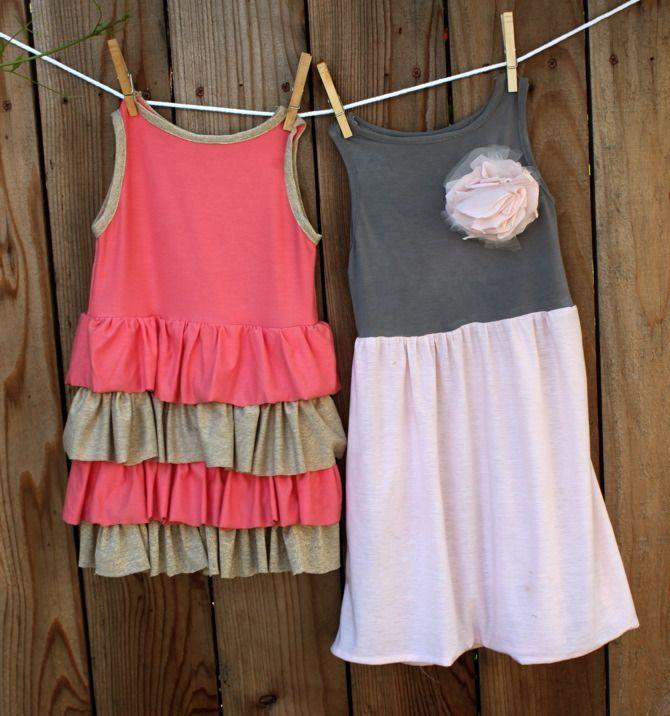 so cute easy dresses for the girls....