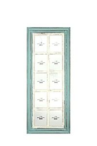 DISTRESSED WINDOW FRAME MULTI PHOTO FRAME 10 PICTURE