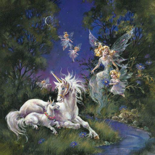 unicorns | ... fantasy by fantasy artist mimi jobe magical fairies and unicorns