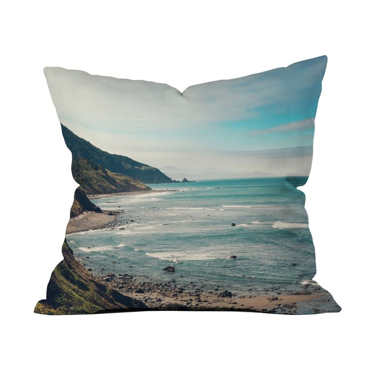 look at this catherine mcdonald california pacific coast highway throw pillow