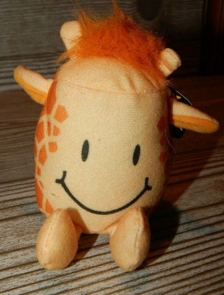 "Sonic Zoo Tots Plush Giraffe Tot Toy, 4"" W/ Tag"