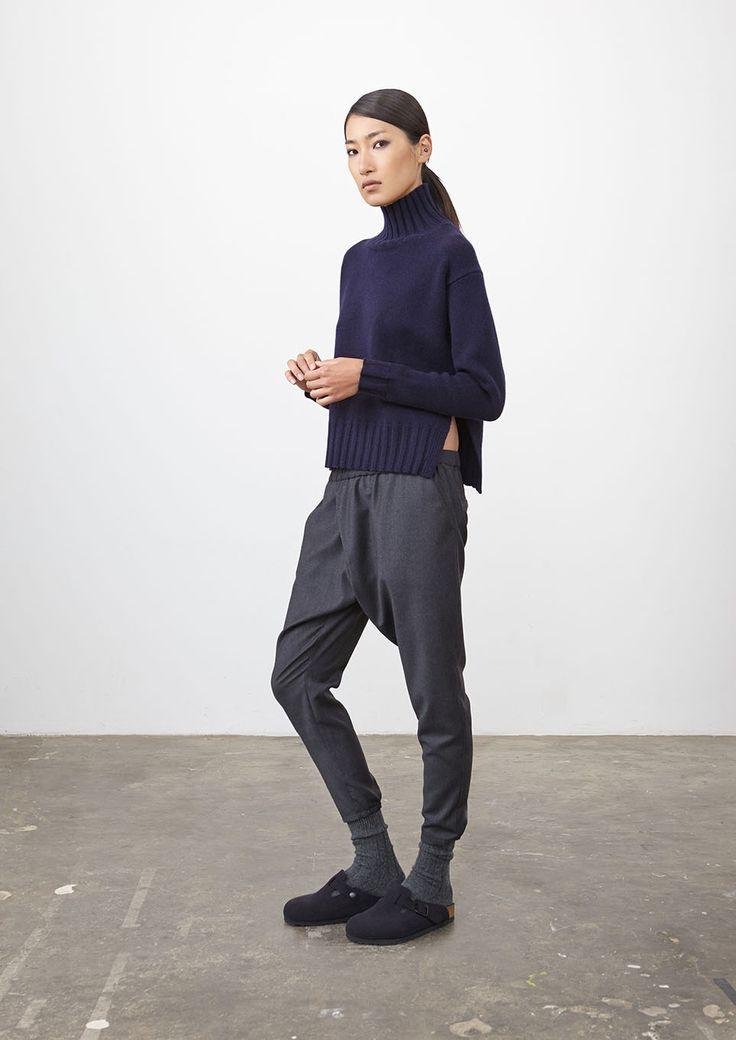 Everyday winter wear... Navy Arlington Knit + Mid Grey Fulton Pant