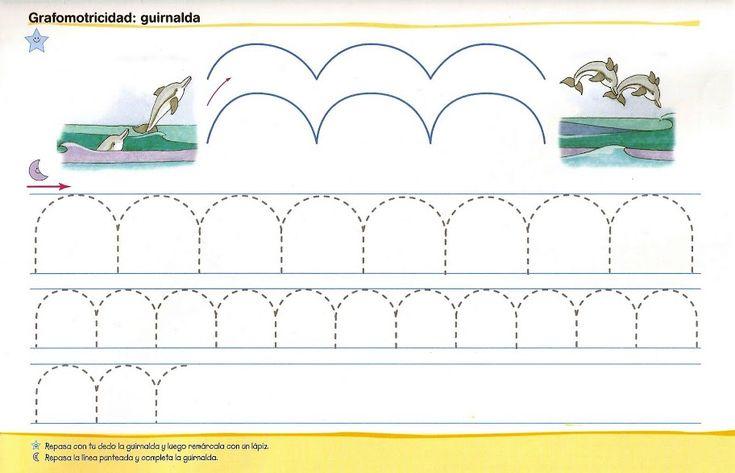 Schrijfpatronen voor kleuters, dolfijn