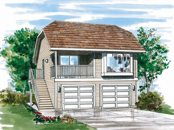 193 best carriage house plans images on pinterest garage for 1 bedroom garage apartment