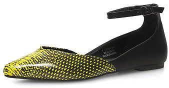 Dorothy Perkins Yellow and Black Pointed Pumps