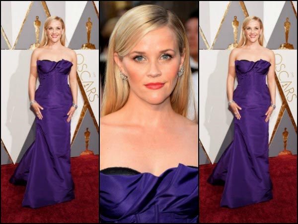 Reese Witherspoon Wows Everyone At Oscars In Oscar De La Renta Dress.