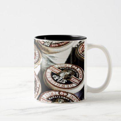 Vintage cotton reel photo on mug - birthday gifts party celebration custom gift ideas diy