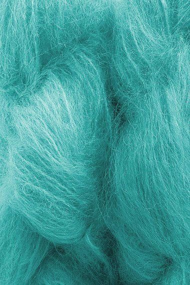Mohair Yarn in Turquoise