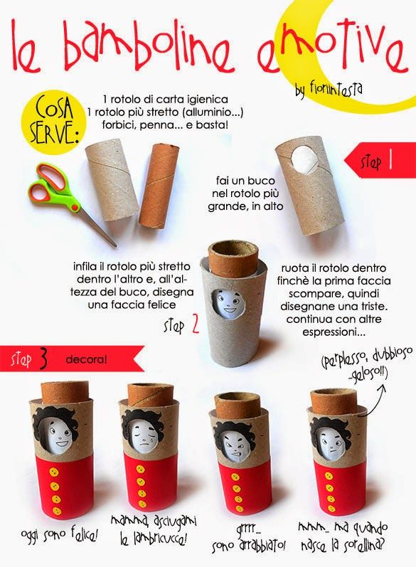 Le bamboline emotive, guest post di Fiori in Testa – DIY Emotional Dolls – Mammabook
