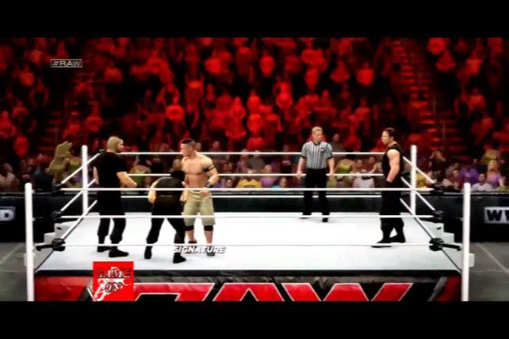 WWE RAW JOHN CENA VS THE SHILED FULL MATCH 2K14