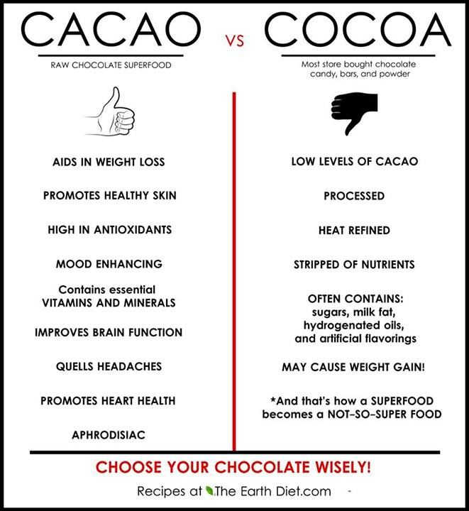 Who would have thought that the raw natural ingredient for chocolate could be healthy and you can make your own chocolate - cacao, coconut milk and stevia