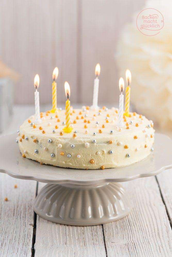 Diese köstliche Geburtstagstorte ist immer eine gute Wahl! Das Geburtstagstorten-Rezept mit weißer Schokolade ist gelingsicher und gut vorzubereiten.