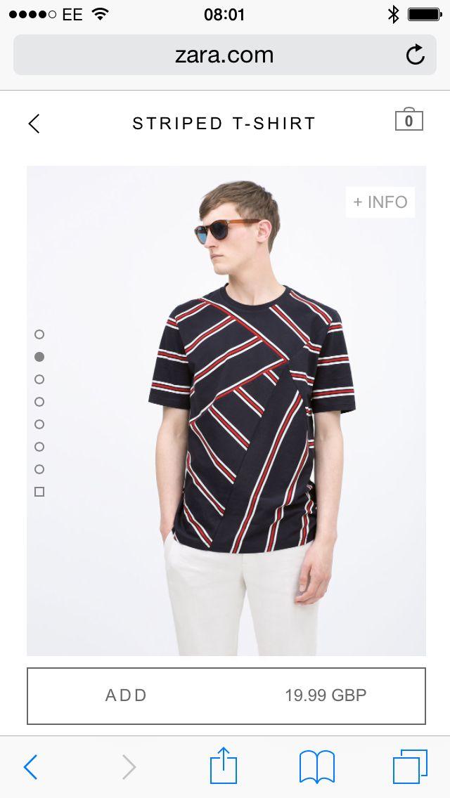 Cut n sewn stripe