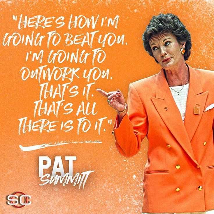No one outworked Pat Summitt.